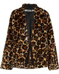 McQ - Leopard-print Faux Fur Coat - Lyst