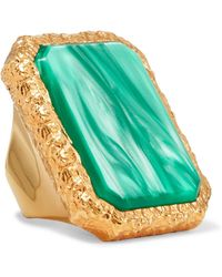 Balenciaga - Gold-tone Resin Ring - Lyst