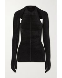 Peter Do Convertible Ribbed Chenille Sweater - Black