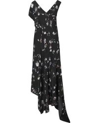 Preen Line Dana Floral-print Midi Dress - Black
