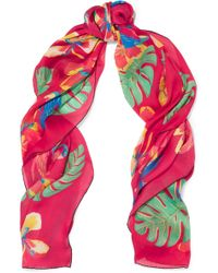 Valentino Tropical Dream Printed Silk Scarf - Multicolor