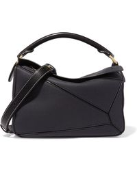 Loewe - Puzzle Textured-leather Shoulder Bag - Lyst