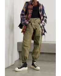 R13 Pantalon Treillis Fuselé En Ripstop De Coton Crossover - Vert