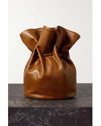 Little Liffner Vase Leather Clutch - Brown