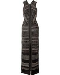 Hervé Léger | Cutout Pointelle-trimmed Bandage Gown | Lyst