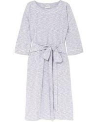 Skin Freda Nachthemd Aus Meliertem Jersey Aus Einer Baumwollmischung - Grau