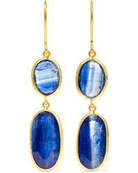 Pippa Small - 18-karat Gold Kyanite Earrings - Lyst