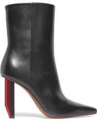 Vetements - Glossed-leather Ankle Boots - Lyst