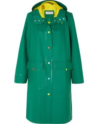 Mira Mikati - Hooded Rubber Raincoat - Lyst