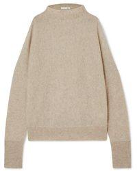 Skin Gillian Cold-shoulder Cashmere Sweater - Gray