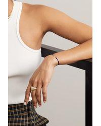 Yvonne Léon 9-karat Gold, Silk And Diamond Bracelet - Metallic