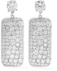 Kenneth Jay Lane Silver-tone Crystal Earrings - Metallic