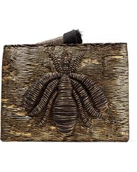 Sanayi 313 - Ragno Embroidered Metallic Woven Pouch - Lyst