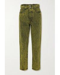 Miu Miu Jeans In Acid-waschung - Grün