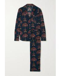 Desmond & Dempsey Printed Cotton-voile Pyjama Set - Blue
