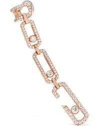 Messika - Move Addiction 18-karat Rose Gold Diamond Earring - Lyst