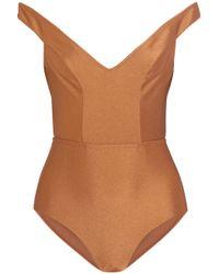 Zimmermann - Tulsi Off-the-shoulder Swimsuit - Lyst