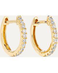 Anita Ko Huggies 18-karat Gold Diamond Earrings - Metallic