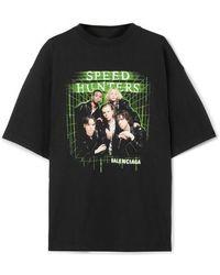 Balenciaga - Speed Hunters Printed Cotton-jersey T-shirt - Lyst