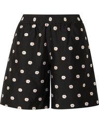 Stine Goya Asuka Floral-jacquard Shorts - Black