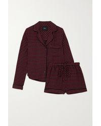 Rails Kellen Checked Flannel Pyjama Set - Red