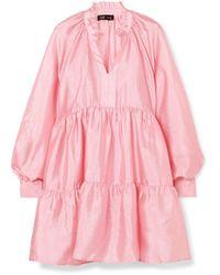 Stine Goya - Jasmine Tiered Cloqué Mini Dress - Lyst