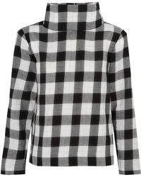 Tibi - Metallic Gingham Cotton-blend Flannel Top - Lyst