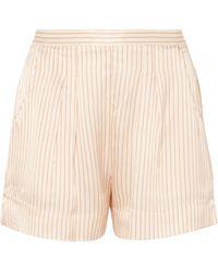 Eres - Riga Frutti Striped Silk-seersucker Pyjama Shorts - Lyst
