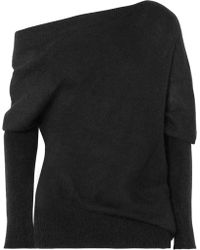 Tom Ford - One-shoulder Mohair And Silk-blend Jumper - Lyst