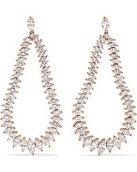 Anita Ko - Eternity 18-karat Rose Gold Diamond Earrings - Lyst