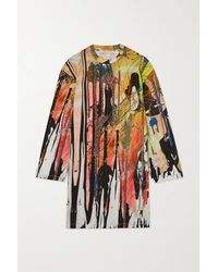 Christopher Kane Printed Cotton-jersey Top - Green