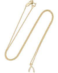 Jennifer Meyer - Wishbone 18-karat Gold Diamond Necklace Gold One Size - Lyst