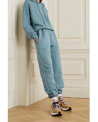 Frankie Shop Pantalon De Survêtement En Jersey De Coton Biologique Vanessa - Bleu