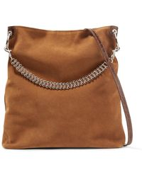 Little Liffner - Liquor Leather-trimmed Suede Shoulder Bag - Lyst
