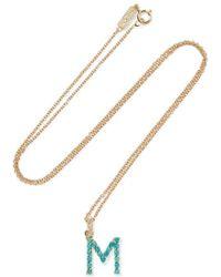 Jennifer Meyer Letter 18-karat Gold Diamond Necklace - Metallic