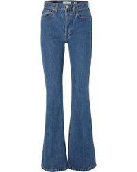 RE/DONE - High Break Flared Jeans - Lyst