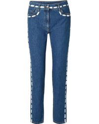 Moschino - Painted Mid-rise Skinny Jeans - Lyst