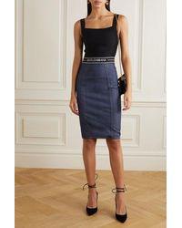 Dolce & Gabbana Rock Aus Denim Und Stretch-jersey - Blau