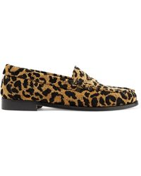 RE/DONE + Weejuns The Whitney Leopard-print Terry Loafers - Brown