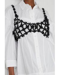Simone Rocha Crystal-embellished Beaded Bralette - Black