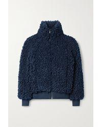 Apiece Apart Sienta Faux Shearling Jacket - Blue