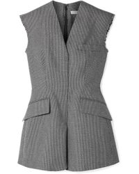 Stella McCartney - Frayed Wool And Cotton-blend Vest - Lyst