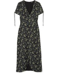 Madewell - Wrap-effect Floral-print Georgette Maxi Dress - Lyst