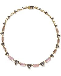 Larkspur & Hawk - Caterina Gold-dipped Quartz Necklace - Lyst