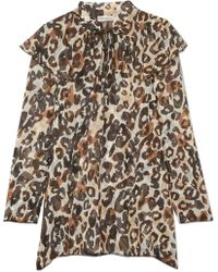 Sonia Rykiel - Leopard-print Silk-chiffon Blouse - Lyst