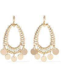 Eddie Borgo - Batik Gold-plated Cubic Zirconia Earrings - Lyst