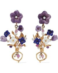 Of Rare Origin - Forget Me Not Gold Vermeil Multi-stone Earrings - Lyst
