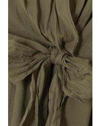 Skin Brenna Tie-front Cotton-gauze Dress - Green