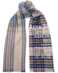 Acne Studios - Checked Wool Scarf - Lyst