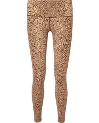 Varley Estrella Leopard-print Stretch Leggings - Brown